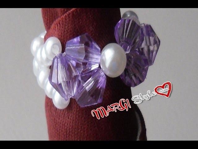 Anello con fiocco di perle video tutorial