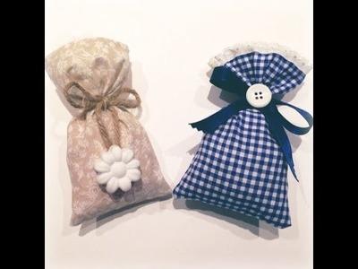 DIY 1  - Sacchetti porta confetti - bomboniere