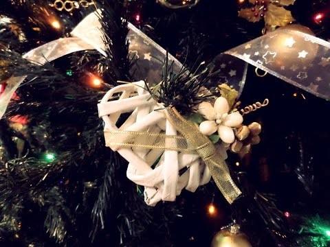 DIY - Decorazioni natalizie: cuore  con cannucce di giornale