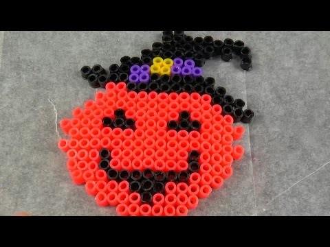 Halloween. Хелуин тыква.DIY.мастер класс.Hama bead.из термомозаики #185