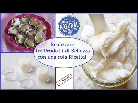 Tre Prodotti di Bellezza con una sola Ricetta - Fai da Te - DIY Beauty Recipe