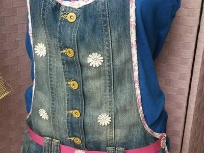 Diy grembiule da cucina da vecchia salopette in jeans