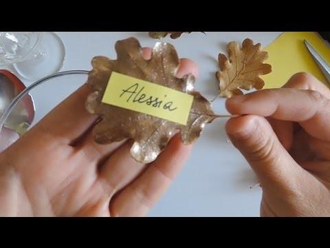 Come fare un segnaposto con le foglie secche - Tutorial