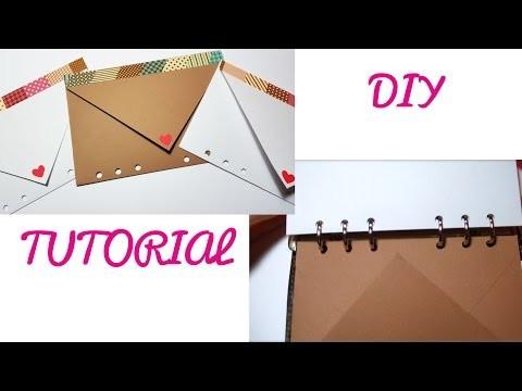 DIY Tutorial Come Foro le buste e i fogli da inserire nell'agenda