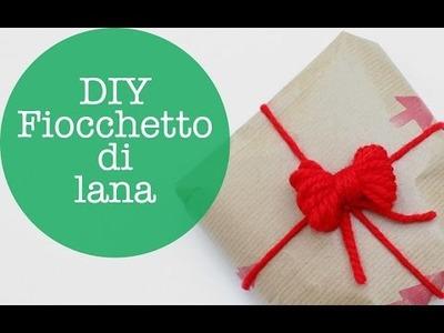 DIY fiocchetto di lana