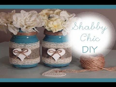 DIY: Shabby Chic || Barattoli decorati per San Valentino|| Coll. con FairyFashionArt