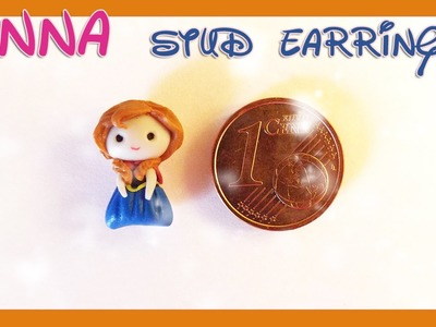 Tutorial Anna Frozen | DIY polymer clay stud earring