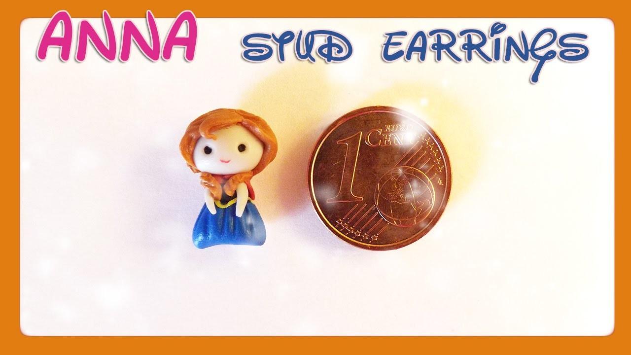 Tutorial Anna Frozen | DIY polymer clay stud earring
