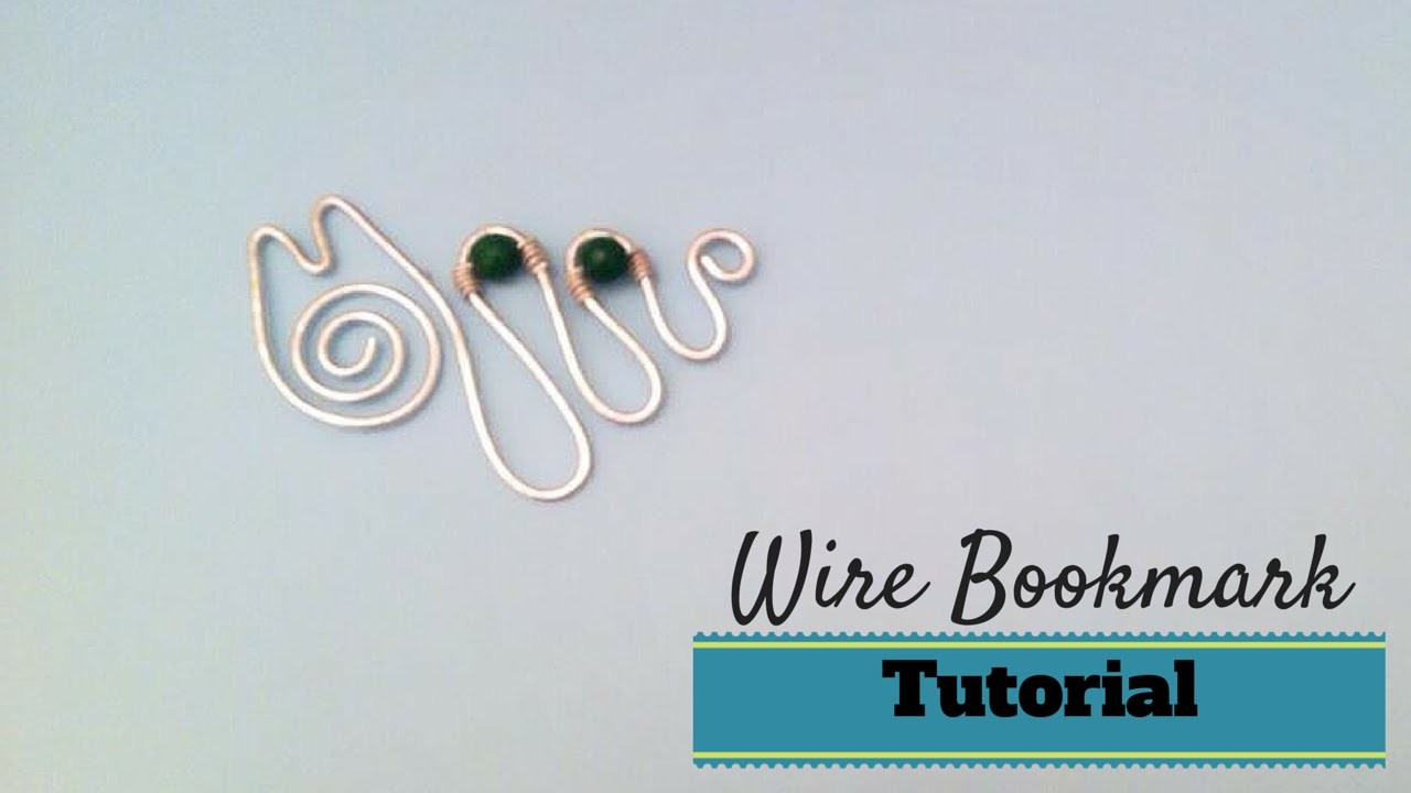 Tutorial \ Wire Cat Bookmark \ Segnalibro in Wire \ Alluminio, Pietre Dure