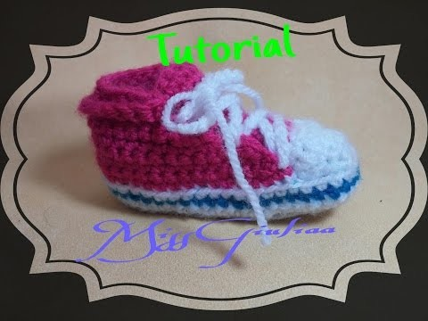 "DIY: Tutorial scarpina neonato Converse ""All Star"""