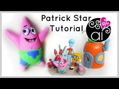 Patrick Star | Polymer Clay Tutorial | Cake Topper DIY
