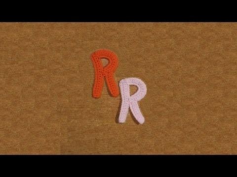 Lettera R all'uncinetto - Alfabeto all'uncinetto - tutorial crochet letter R
