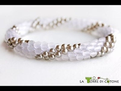 Come creare un bracciale con perline all'uncinetto - Spirale a crochet