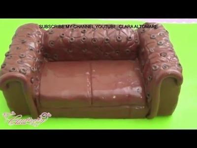 HOW TO MAKE A SOFA CAKE TOPPER SUGAR PASTE - TUTORIAL DIVANO IN PASTA DI ZUCCHERO TORTA