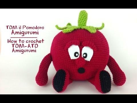 TOM il Pomodoro Amigurumi | How to crochet TOM-ATO Amigurumi