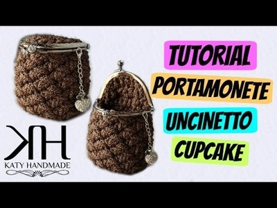 "Tutorial uncinetto portamonete ""Cupcake"" | Coin purse crochet || Katy Handmade"