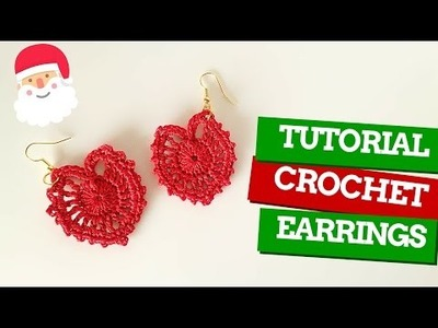 TutorialXMAS #6 | Orecchini uncinetto | How to crochet earrings | Katy Handmade