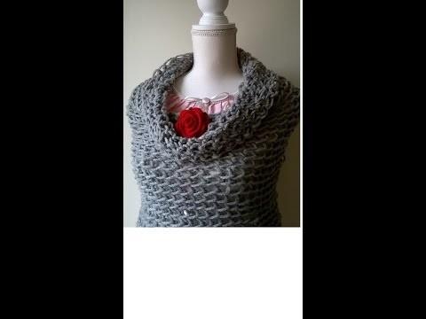 Uncinetto con le Dita   Sciarpa   Coprispalle    Fingers Crochet   Neckwarmer Scarf