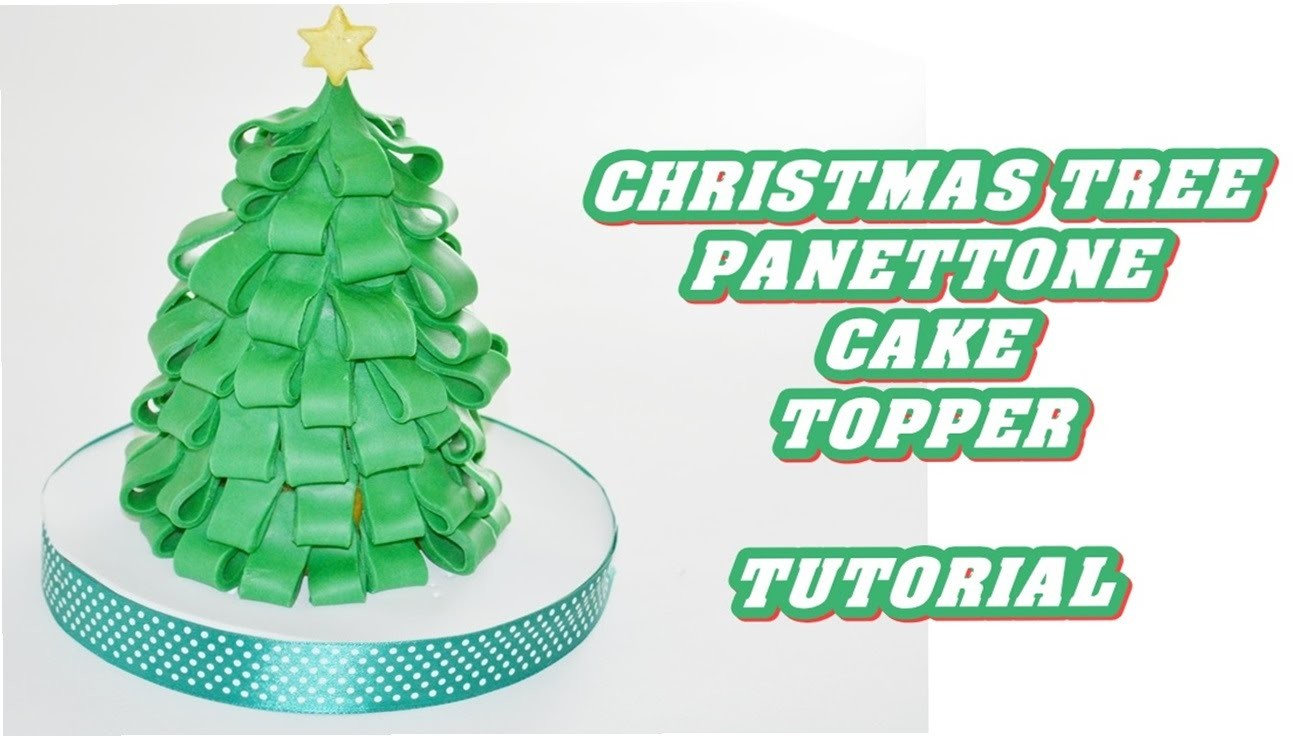How to make a Christmas tree decorate fondant_ panettone pasta di zucchero albero natale tutorial