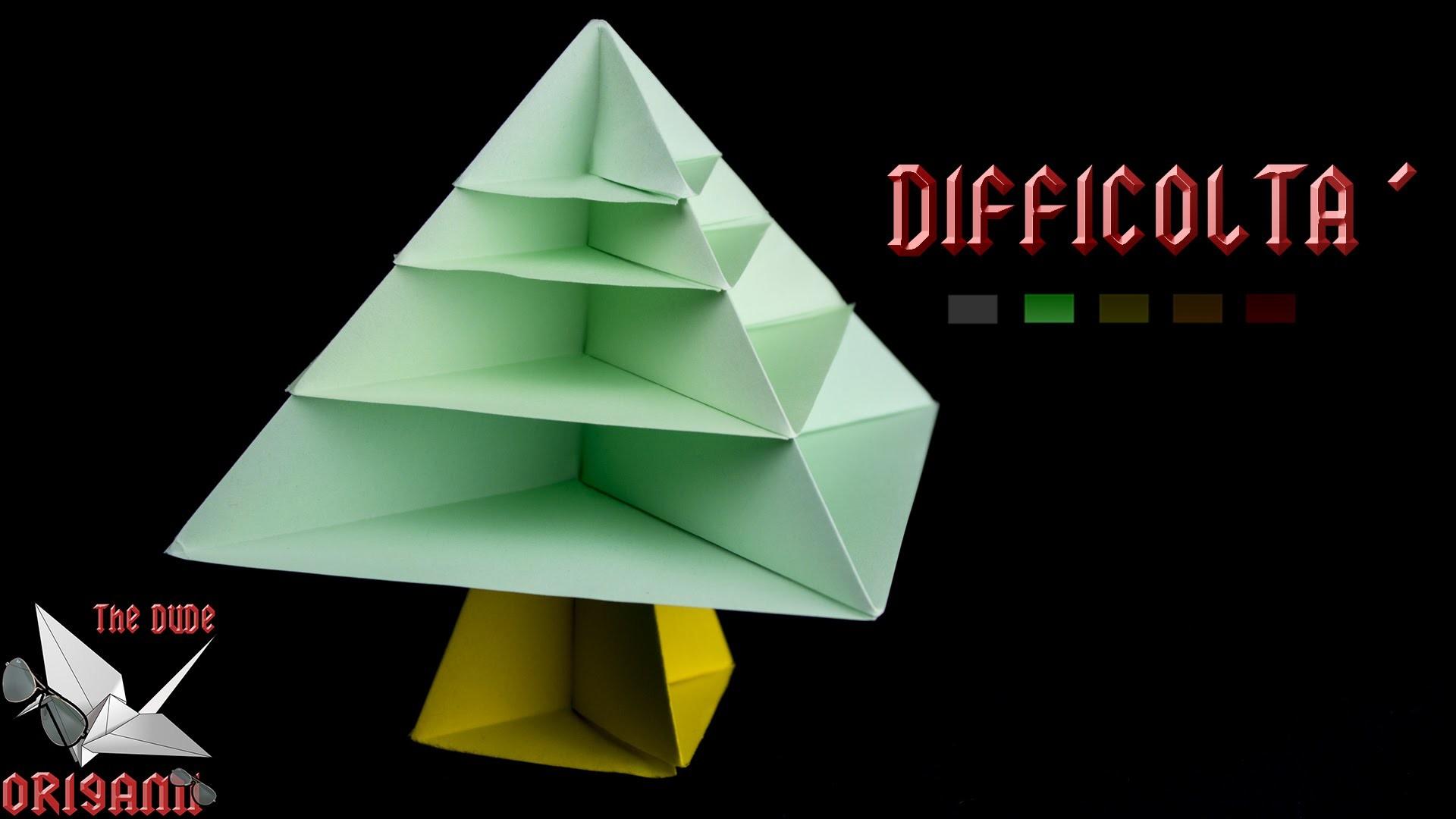 origami ita albero di natale natale specialfacili