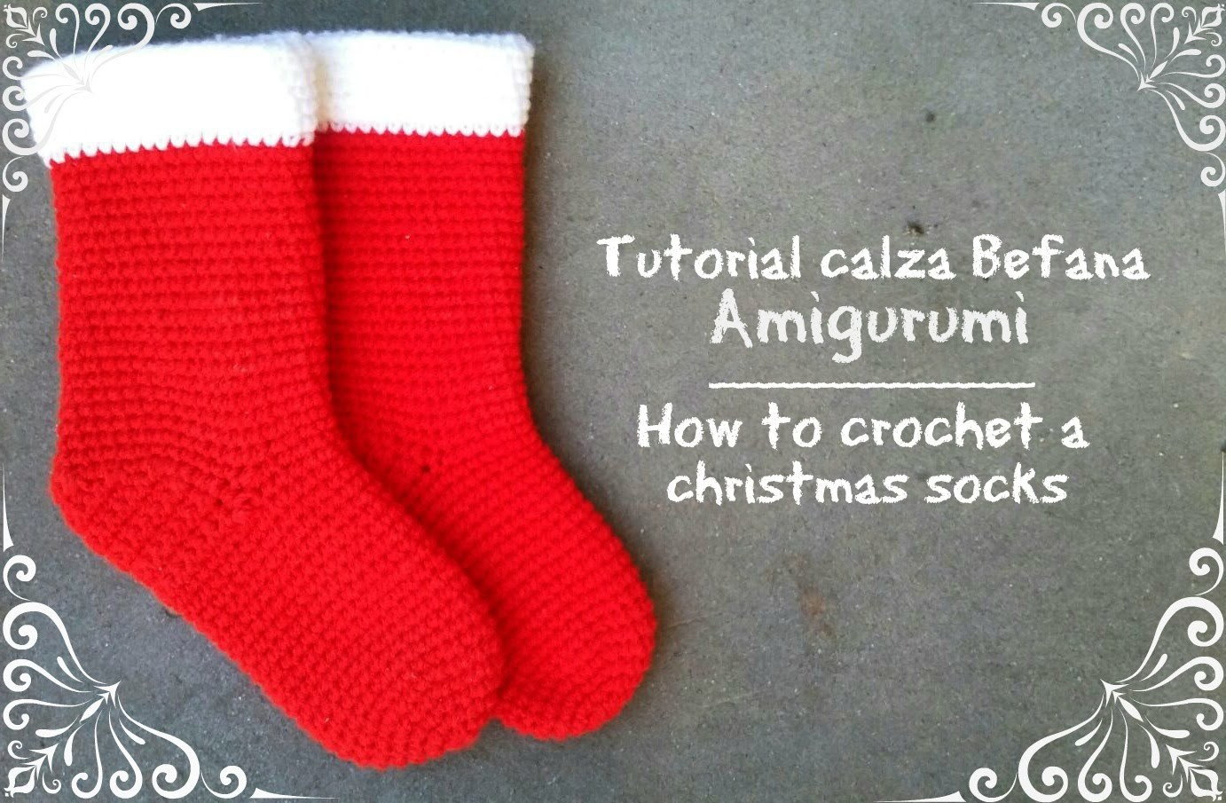 Calza Befana piccola amigurumi | How to crochet a christmas socks