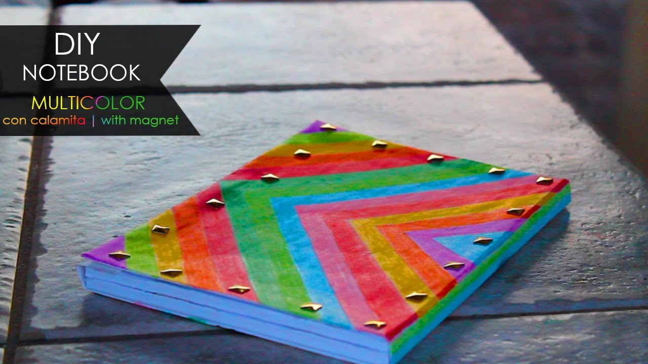 DIY Notebook ◖ Multicolor con calamita | with magnet