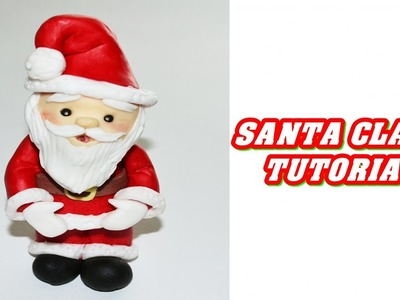 How to make a simple SANTA CLAUS cake topper fondant- babbo natale tutorial pasta di zucchero