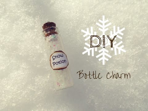 DIY Snow Potion ❄ Bottle Charm TUTORIAL