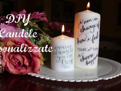 DIY candele personalizzate : super facile e veloce