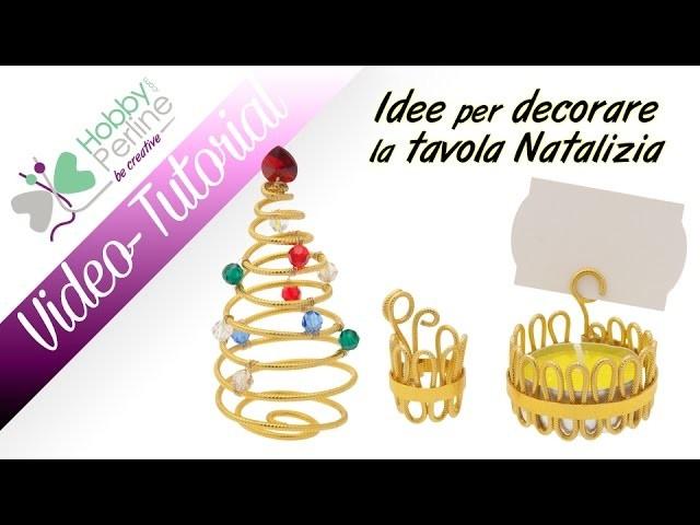 Idee per decorare la tavola Natalizia   TUTORIAL - HobbyPerline.com
