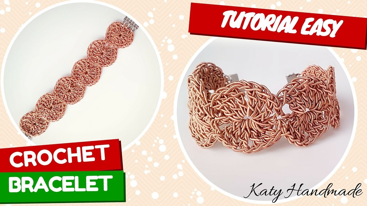 "TutorialXMAS #4   Bracciale ""Ahri"" uncinetto   Bracelet crochet   Katy Handmade"