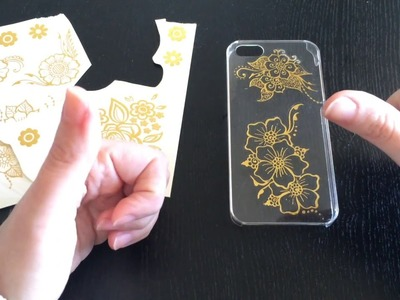 Diy- Decoro una cover per iphone con i Gold Tattoo