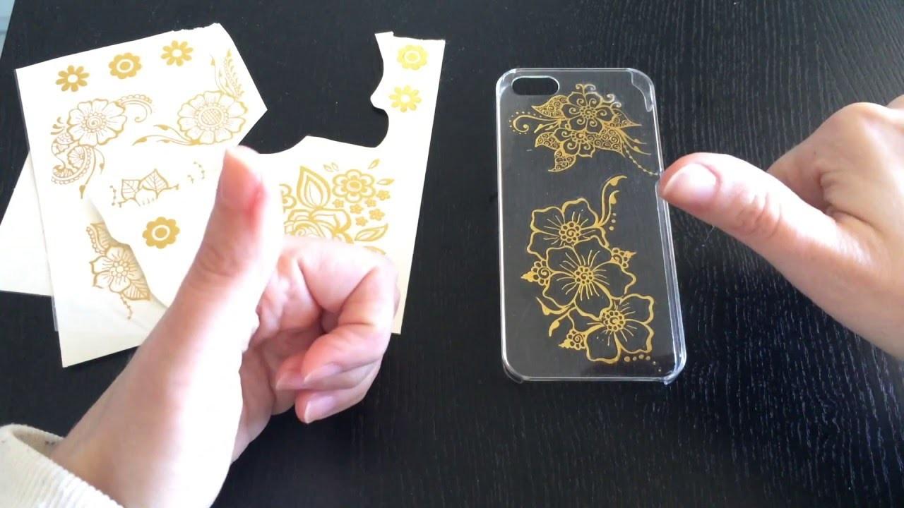 Diy- Decoro una cover per iphone con i Gold Tattoo