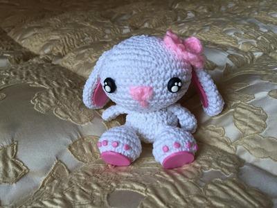 Tutorial coniglietto Amigurumi.How to crochet a sweet rabbit amigurumi