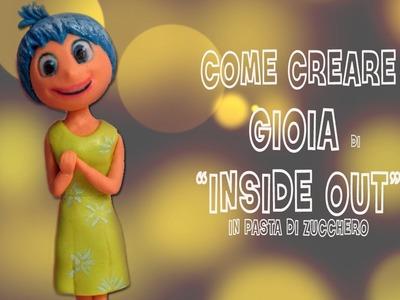 """Come fare Gioia di """"Inside Out"""" Disney Pixar cake topper tutorial"""