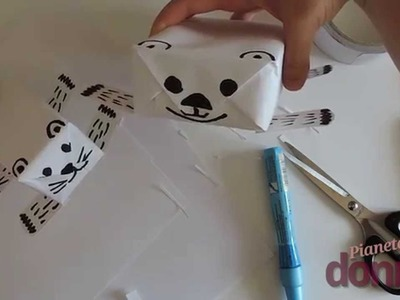 Pacchetti regalo a forma di animale - Tutorial