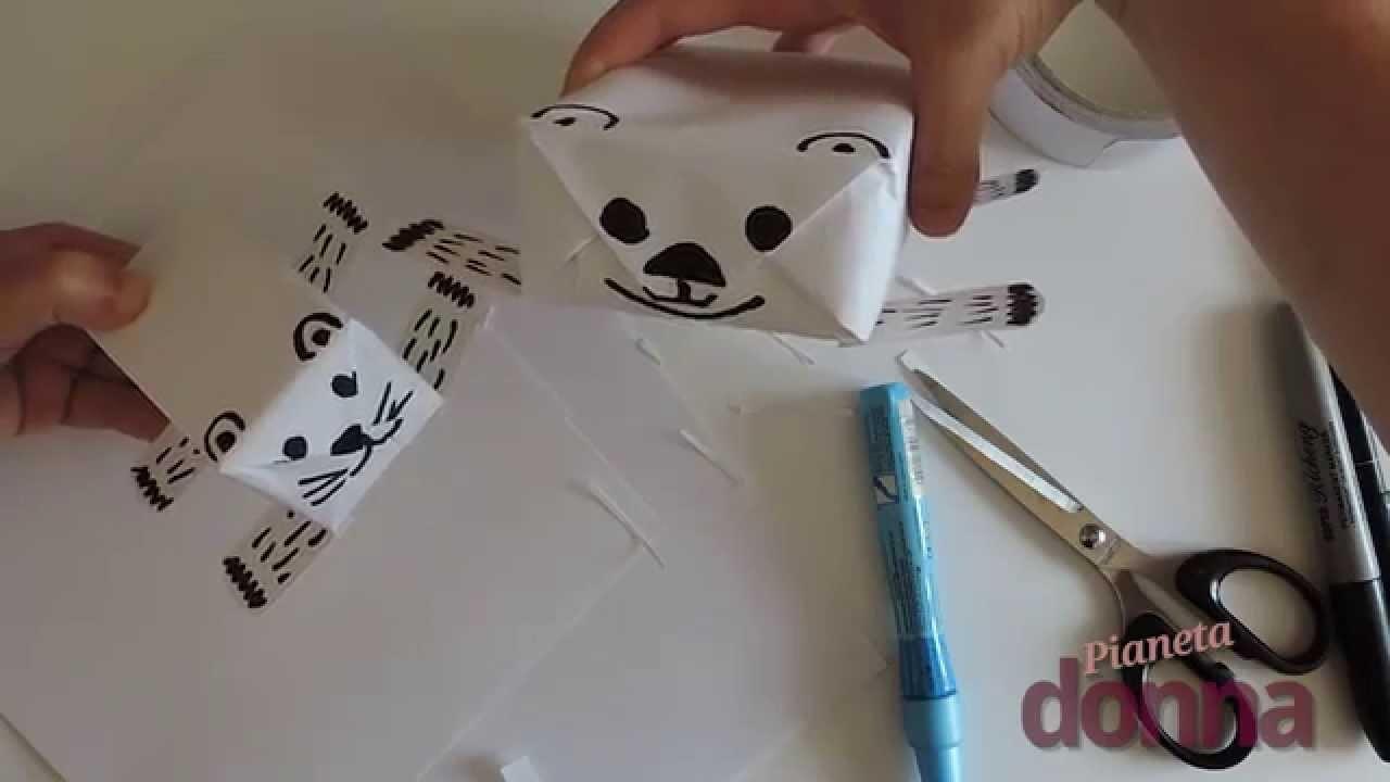 Pacchetti regalo a forma di animale - Tutorial
