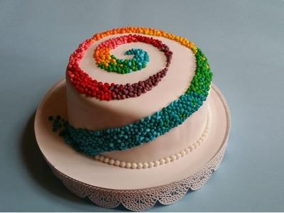 Torta arcobaleno,Rainbow cake,Torta carnevale