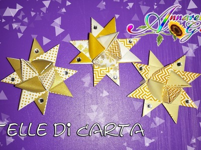Tutorial stelle di Natale origami con il set LIDL | Christmas Decorations