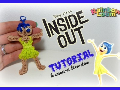 GIOIA Inside Out con Elastici RAINBOW LOOM - DIY DISNEY Pixar Joy Charm Tutorial