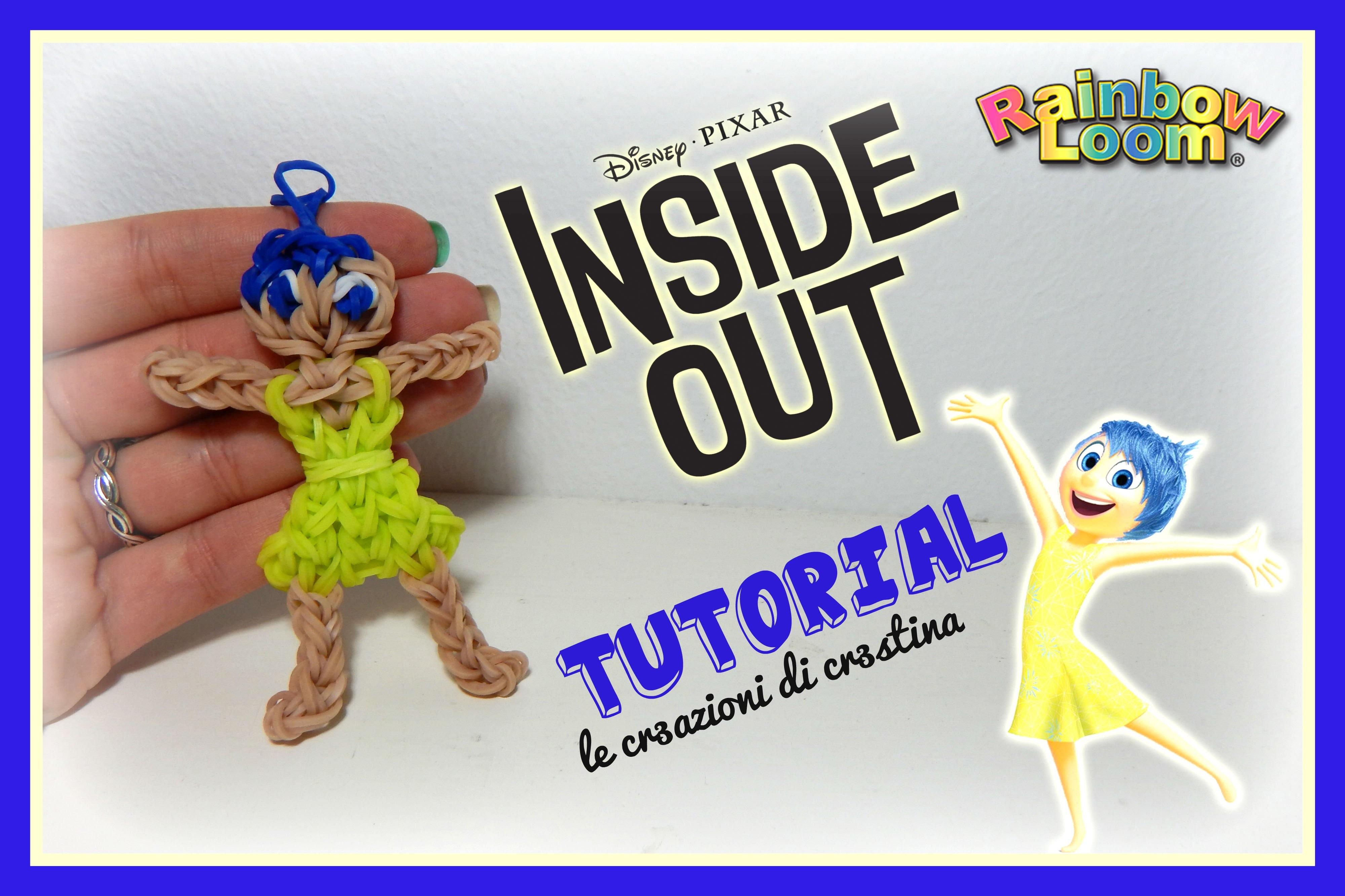GIOIA Inside Out con Elastici RAINBOW LOOM - DIY DISNEY Pixar Joy Charm Tutorial