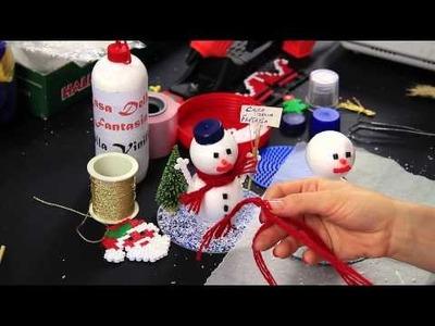 Video Tutorial DIY Pupazzo di neve Snowman Idee per il Natale con Pyssla, Palline di Polistirolo