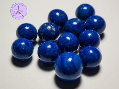 Tutorial: Perle Lapislazzuli in Fimo (polymer clay lapis lazuli beads)