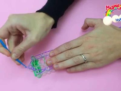 Braccialetti elastici - 3. Doppio INFINITY con telaio