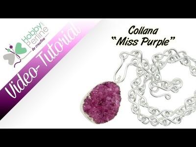 "Collana ""Miss Purple"" | TUTORIAL - HobbyPerline.com"