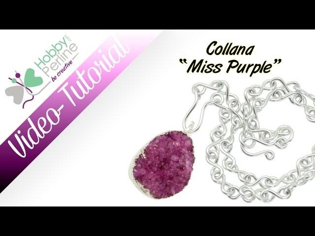 "Collana ""Miss Purple""   TUTORIAL - HobbyPerline.com"