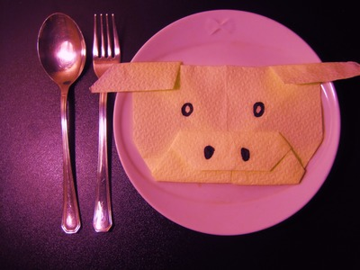 Come Piegare i Tovaglioli Maialino. How to Fold Napkins Pig