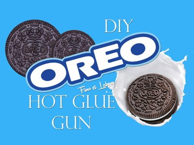 DIY: OREO con COLLA a CALDO. no polymer clay!