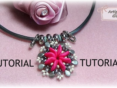 Tutorial perline | Come fare ciondolo con ripple, pip e twin beads | Ripple Sun