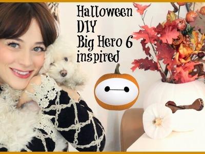 Zucca di Halloween DIY ispirata a Baymax di Big Hero 6